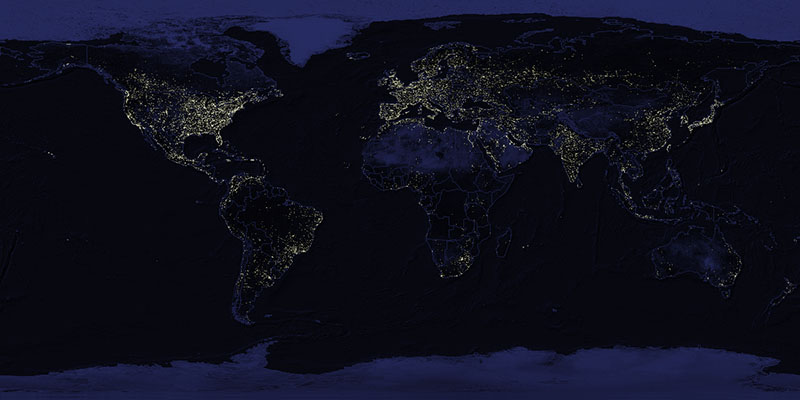 North Korea Map At Night Fischer Buzz